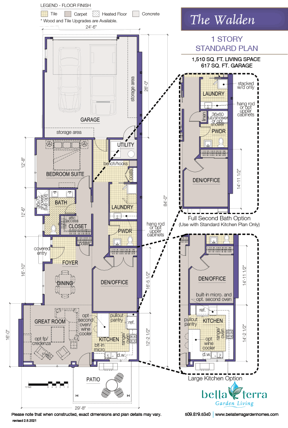 The Walden condominium offers an efficient and functional layout.
