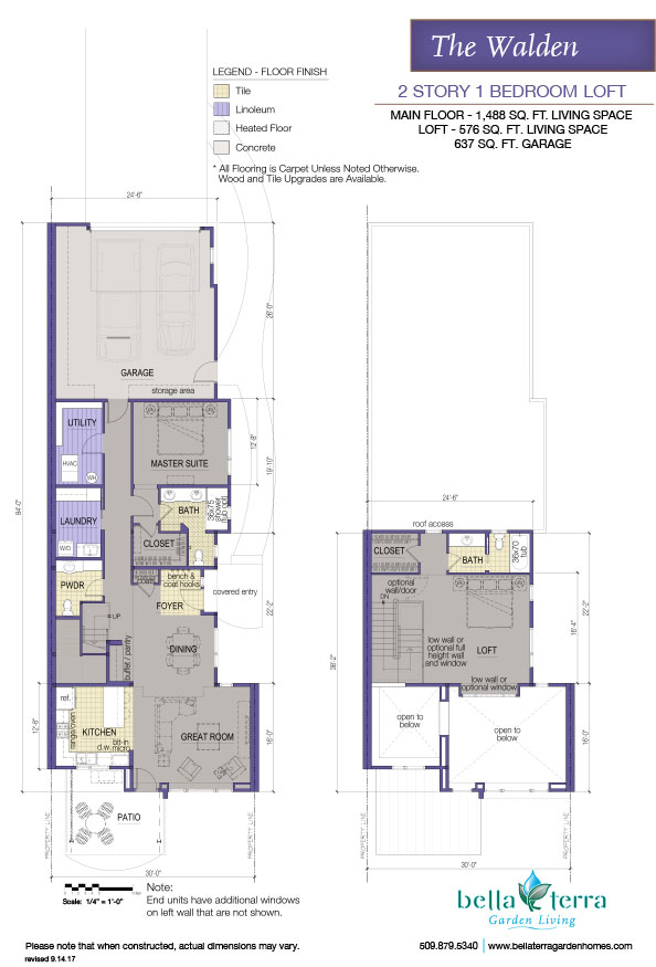 Spokane luxury condominium the walden two story floor plan for Two story condo floor plans
