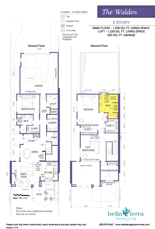 The Walden condominium offers an efficient and functional layout with a bathroom or a den
