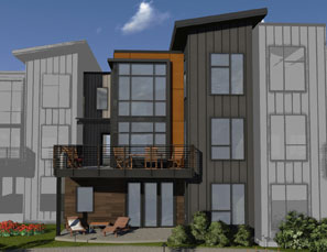 Emerson townhomes offer multiple designs, terrace options.